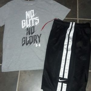 2pc boys sz Large NIKE & Under Armour outfit
